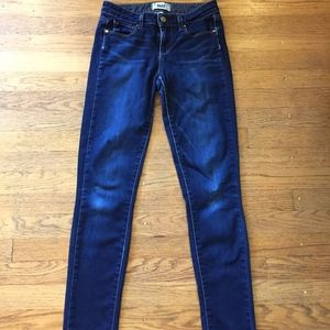 Paige Skyline Skinny Dark wash jeans
